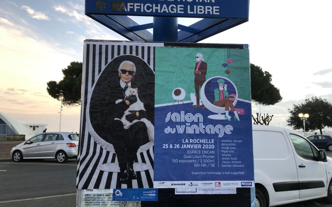 Affichage Salon Vintage – Encan – La Rochelle